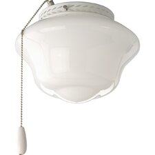 AirPro 1 Light Universal Schoolhouse Ceiling Fan Light Kit