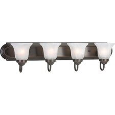 <strong>Progress Lighting</strong> Builder Bath 4 Light Vanity Light