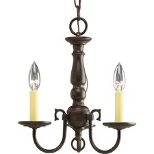 <strong>Progress Lighting</strong> Americana 3 Light Mini Candle Chandelier