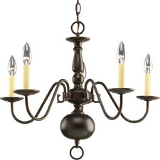 <strong>Progress Lighting</strong> Americana 5 Light Candle Chandelier