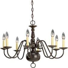 Americana 8 Light Candle Chandelier