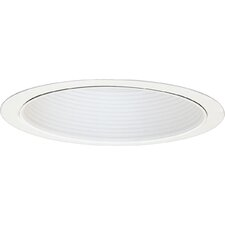 "7.75"" Baffle Recessed Trim in White"