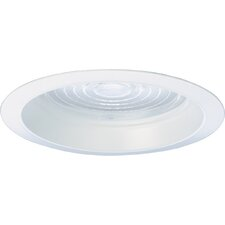 Regressed Fresnel Recessed Trim in White