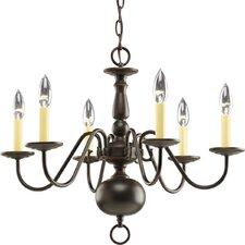 Americana 6 Light Candle Chandelier
