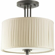Clayton 2 Light Close-To-Ceiling Semi Flush Mount