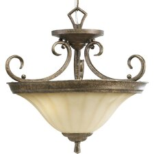 Le Jardin 2 Light Semi Flush Mount