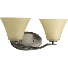<strong>Progress Lighting</strong> Bravo 2 Light Bath Vanity Light