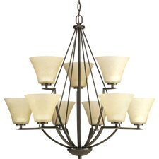 <strong>Progress Lighting</strong> Bravo 9 Light Chandelier