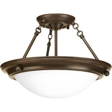 <strong>Progress Lighting</strong> Eclipse 2 Light Semi-Flush Mount
