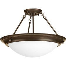 <strong>Progress Lighting</strong> Eclipse 3 Light Semi-Flush Mount