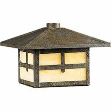 Cobblestone Mission Rail Mount Outdoor Lantern