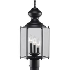 BrassGuard 3 Light Post Lantern