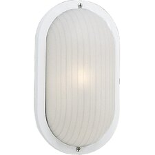 Polycarbonate Oval Incandescent 1 Light Outdoor Wall Lantern