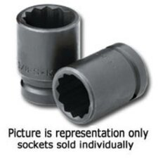 Socket Impact 2-1/16 3/4In. Dr Std 12 Pt Thin Wall