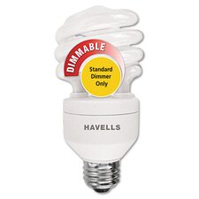20W White 120-Volt Compact Fluorescent Mini Lynx Spiral Light Bulb