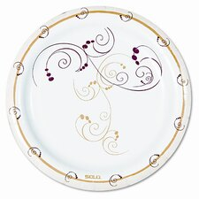 Symphony Paper Dinnerware, Mediumweight Plate, 500/Carton