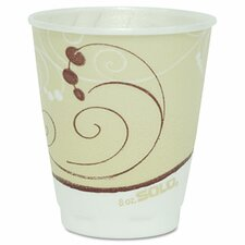 Company Symphony Design Trophy Foam Hot/Cold Drink Cups, 8 Oz, 100/Pack