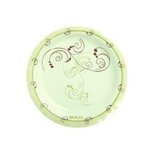 "6"" Clay-Coated Round Paper Plates Symphony Design"