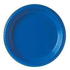 "(500 Per Container) 9"" Plastic Plate in Blue"