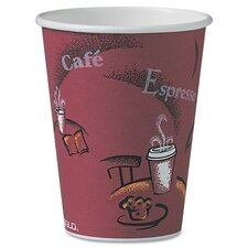 <strong>Solo Cups</strong> Company Bistro Design Hot Drink Cups, 12 Oz., 300/Carton