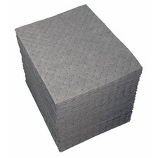 "GP™ Sorbents - 15""x19"" gray dimpled sorbent pad"