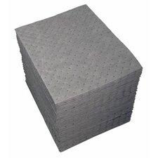 """GP™ Sorbents - 15""""x19"""" gray dimpled sorbent pad"""