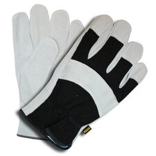 Prodex Split Cowhide Leather Palm Gloves with Foam Lining