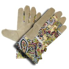 Ladies Grain Pigskin Leather Gloves with Canvas Back