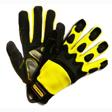 Prodex High Dexterity Synthetic Leather Palm Gloves with Spandex Back