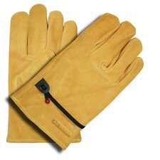 Split Cowhide Driver Gloves with Ball and Tape Adjustment
