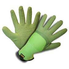 Ladies Nylon Shell Gloves with Latex Crinkle Coating