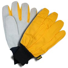 Shoulder Leather Palm Gloves with Canvas Back