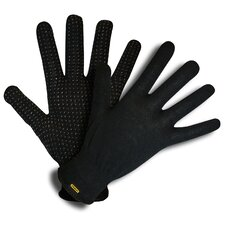 Water Resistant String Knit Gloves with PVC Dots