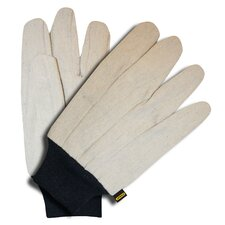 Cotton Canvas Gloves with Knit Wrist
