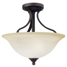 Prestige 2 Light Semi Flush Mount
