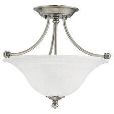 Harmony 2 Light Glass Semi Flush Mount