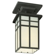Mission 1 Light Outdoor Semi Flush Mount