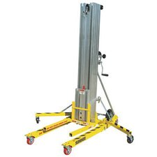 "18"" 650 Pound Contractor Lift With Reversible Forks, Loading Bar And Lockable Casters"