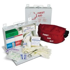 "25 Standard First Aid Kit In 10 1/2"" X 7 1/4"" X 2 1/2"" Steel Box (12 Per Case)"