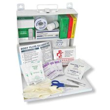 <strong>Swift First Aid</strong> All In One CPR And Body Fluid Clean Up Kit In Steel Box