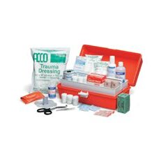 "First Response Trauma Kit In 15"" X 9"" X 7"" Plastic Tackle Box (4 Per Case)"
