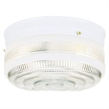 2 Light Flush Mount - Glass Shade