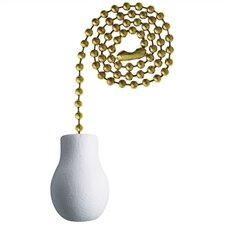 <strong>Westinghouse Lighting</strong> White Wood Knob Ceiling Fan Pull Chain
