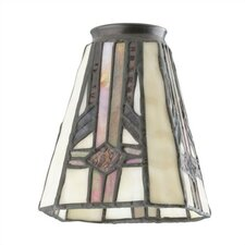 "2.25"" Ceiling Fan Fitter Square Tiffany Glass Shade"