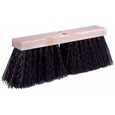 "Street Brooms - broom  18""x 5-1/4"" trimbrown syt"