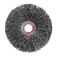 "Center™ 2"" Wire Fill Small Diameter Steel Wire Wheel With 1/2"" - 3/8"" Arbor Hole"