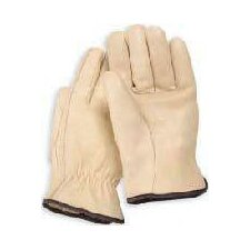 Large Tan Grain Cowhide Unlined Gunn Cut Drivers Gloves With Straight Thumb And Bound Hem