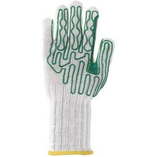 "Large Whizard® Slipguard® Right Hand B Pattern Heavy Duty High Performance Fiber And Stainless Steel Cut Resistant Gloves With 6"" Extended Cuff And Polyurethane Coating"