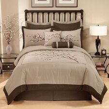 Zen Blossom 4 Piece Full Comforter Set