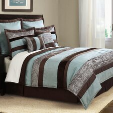 Suede Stripe 8 Piece Comforter Set